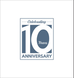 10 years anniversary modern design background vector