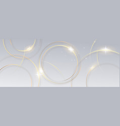 abstract gold circle lines on white background vector image