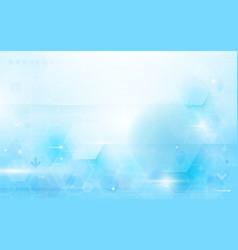 Abstract technology digital hi tech hexagons vector