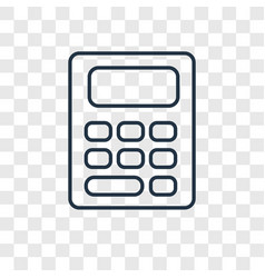 accountant concept linear icon isolated on vector image