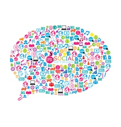 An of a collage of social network buzz words vector