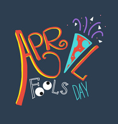 april fool day word vector image