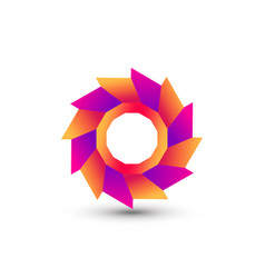 Awesome abstract gradient spin gear company vector
