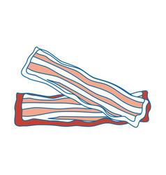 Bacon stripes design vector