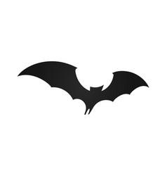 bat in flight wide wings black silhouette bat vector image