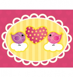 Birdie with a heart vector