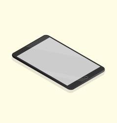 Black tablet isometric vector