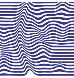 blue striped backdrop zebra top distortion vector image