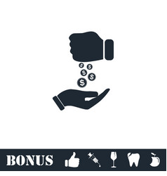 Bribe icon flat vector