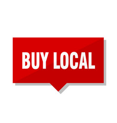 Buy local red tag vector