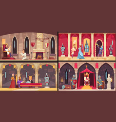 Castle interior concept vector
