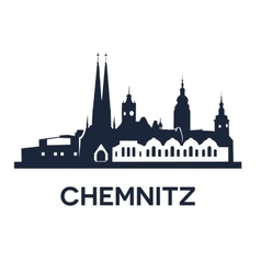 chemnitz city skyline vector image