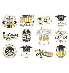 Class of 2018 badge vector