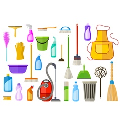Cleaning supplies vector