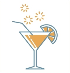 Cocktail icons collection vector