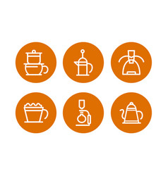 Coffee shop icon set coffee sign template web or vector