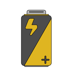 Color image cartoon alkaline battery electricity vector