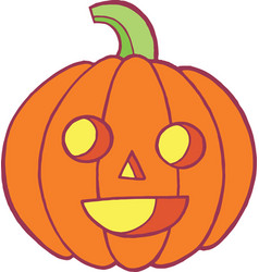 Colorful doodle sketch with pumpkin for halloween vector