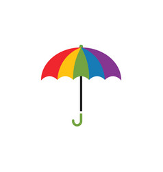 colorful umbrella graphic design template vector image