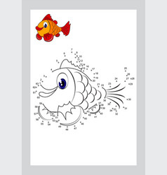 connect the dots game and coloring pages learning vector image