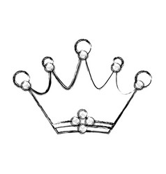 crown emblem symbol vector image