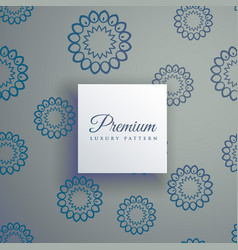 elegant decorative mandala seamless pattern vector image