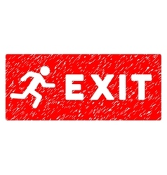 Emergency Exit Grainy Texture Icon vector