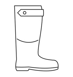 Farm boot icon outline style vector