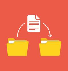 Files transfer concept vector
