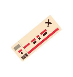 flight travel ticket vector image