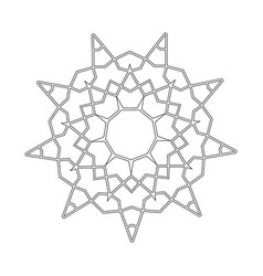 Floral straight lined mandala trendy tattoo vector