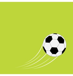 Flying football soccer ball with motion trails vector