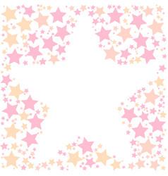 Frame shape stars on a white background vector