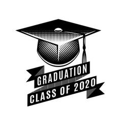 Graduation class 2020 congrats grad vector