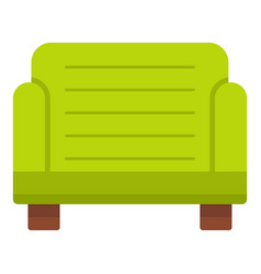 Green armchair icon isolated vector