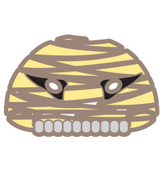 halloween mummy mask vector image