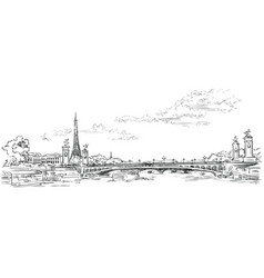 Hand drawing paris 4 vector