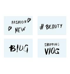 handwritten lettering for social media network vector image