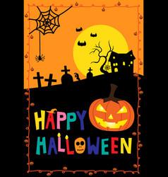 Happy halloween festival vector