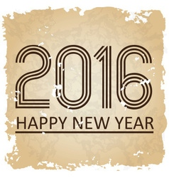 Happy new year 2016 on the old paper background vector