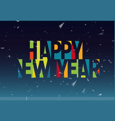 happy new year colorful letters banner template vector image