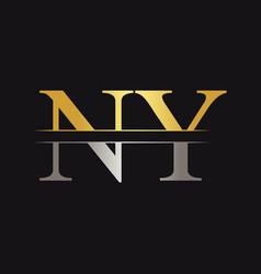 Initial monogram letter ny logo design template vector
