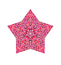 Isolated abstract polygonal triangle pentagram vector
