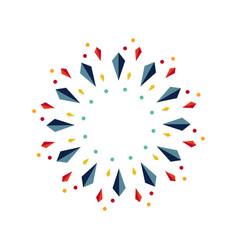 Kite ornament template design vector