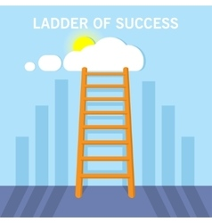 Ladder to clouds Flat design concept vector