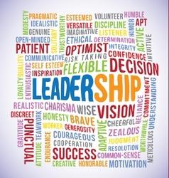 Leadership Word vector image