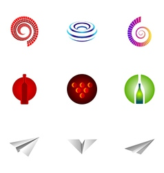 logo design elements set 26 vector image vector image