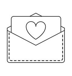 Love heart envelope mail valentine letter lin vector