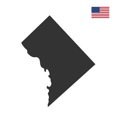 Map of the us district of columbia vector