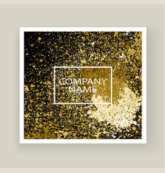 Neon gold explosion paint splatter artistic cover vector